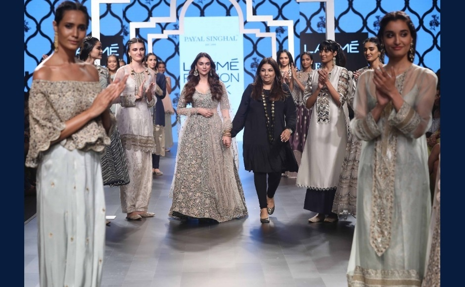 Payal Singhal takes the final bow after displaying a stunning collection