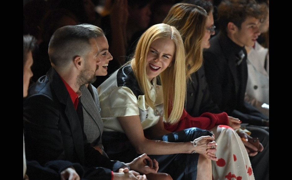 Nicole Kidman was also spotted chatting in the front row. Image from AFP/Angela Weiss
