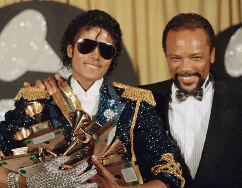 Michael Jackson and Quincy Jones. Image from Twitter/@elle_tolentino