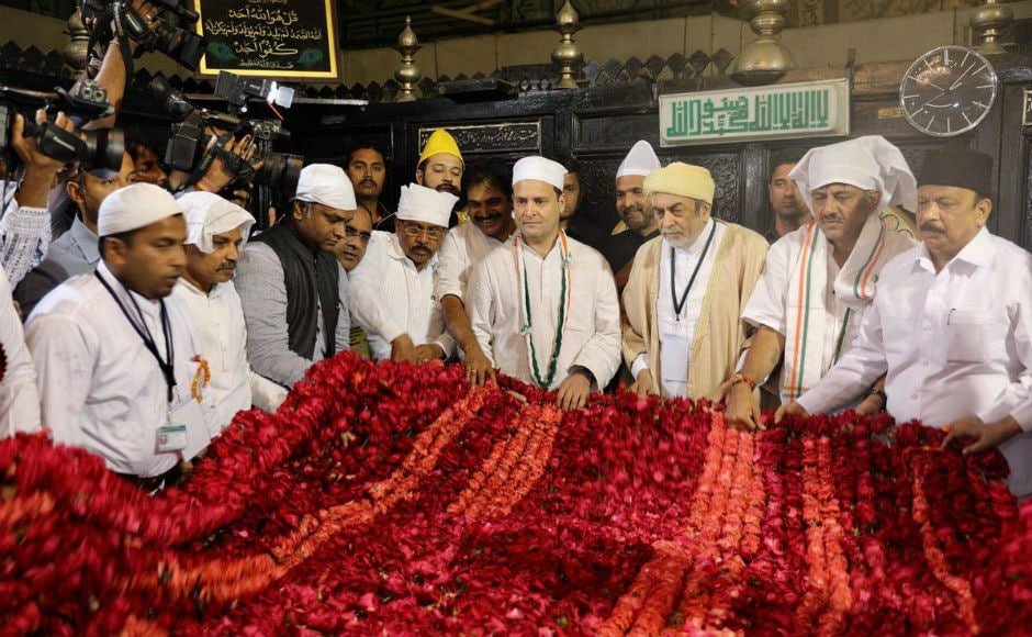 Rahul also visited the durgah of Sufi saint Khwaja Bande Nawaz at Gulburga. Twitter @INCIndia