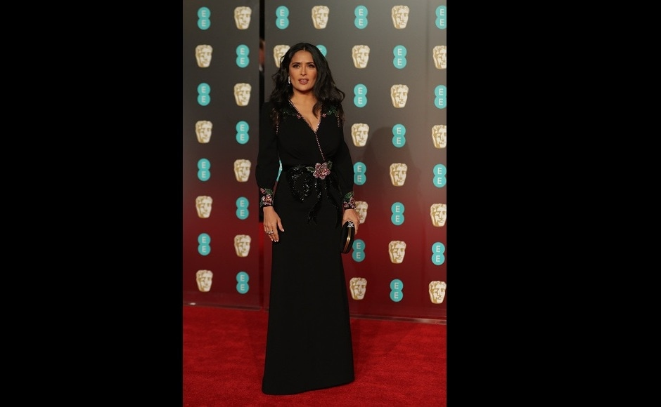Salma Hayek wore all Gucci to the BAFTAs. Image from AFP/Daniel Leal-Olivas
