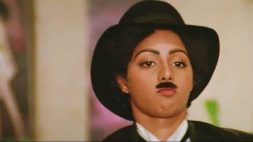 Sridevi channels Charlie Chaplin in the iconic scene from Mr India