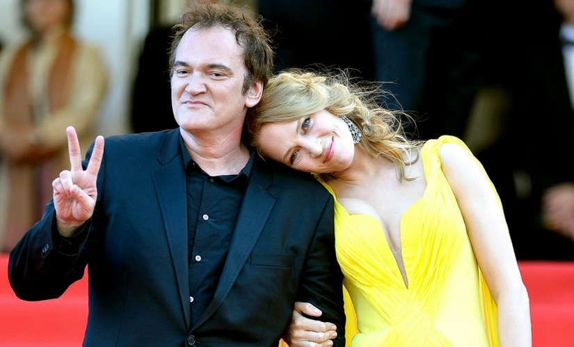 Uma Thurman with Quentin Tarantino/Image from Twitter.