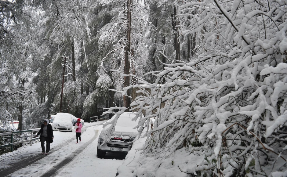 As news of the snowfall spread, tourists started arriving in Shimla and in nearby Kufri, Mashobra and Narkanda. However, towns in Shimla district such as Jubbal, Kotkhai, Kharapathar, Rohru and Chopal are cut off due to snow. Kothi near Manali experienced 45 centimetres of snow, the highest in the state. PTI