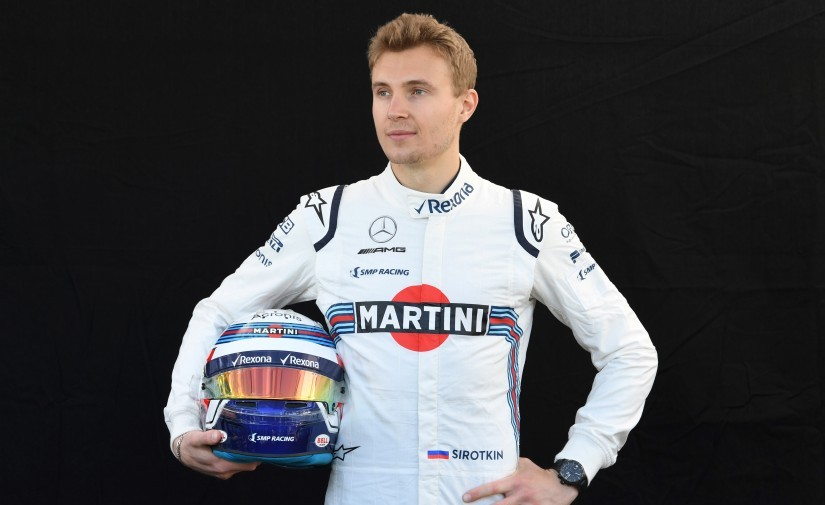 Williams' Russian driver Sergey Sirotkin poses for a portrait photo at the Albert Park circuit in Melbourne. AFP