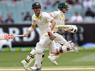 South Africa vs Australia: David Warner, Steve Smith hit half-centuries in tightly-contested opening day