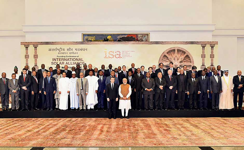 World leaders pledge to use more solar power, create jobs at founding conference of International Solar Alliance