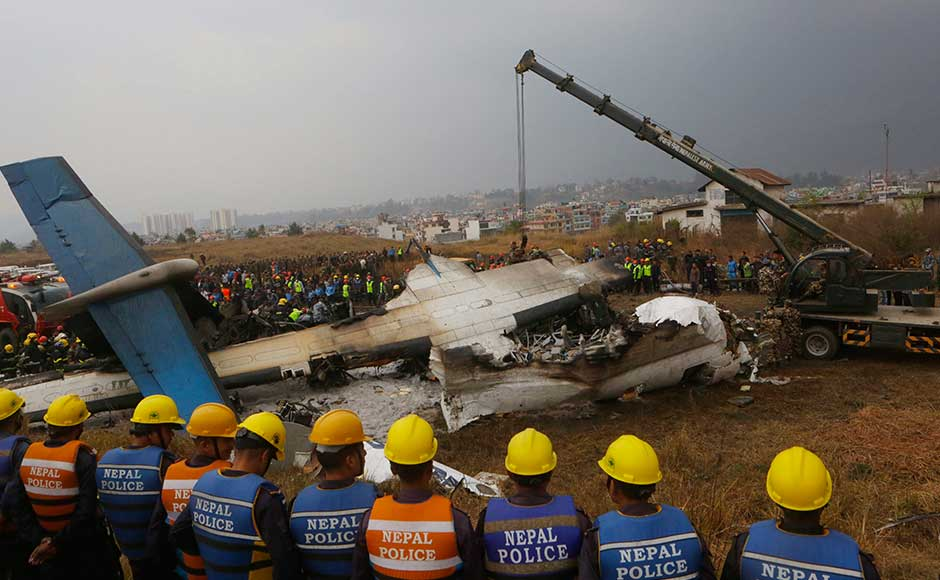 Forty nine killed in Nepal's worst-ever aviation disaster as US-Bangla Airlines plane crash near Kathmandu airport