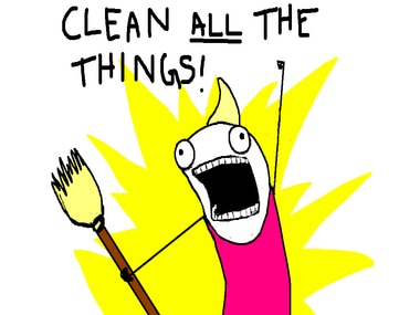 6 emotions of a cleanliness freak on a normal day