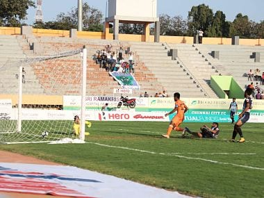 Chennai City FC's victory over Minerva Punjab has thrown the title race wide open. Image Courtesy: Agencies
