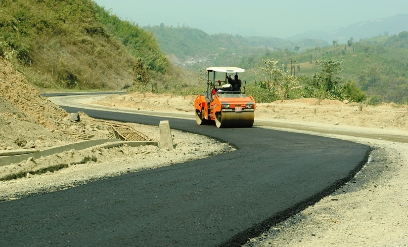 Kaladan. A stretch of the highway that has been completed in Lawngtlai. Firstpost/Rajeev Bhattacharyya