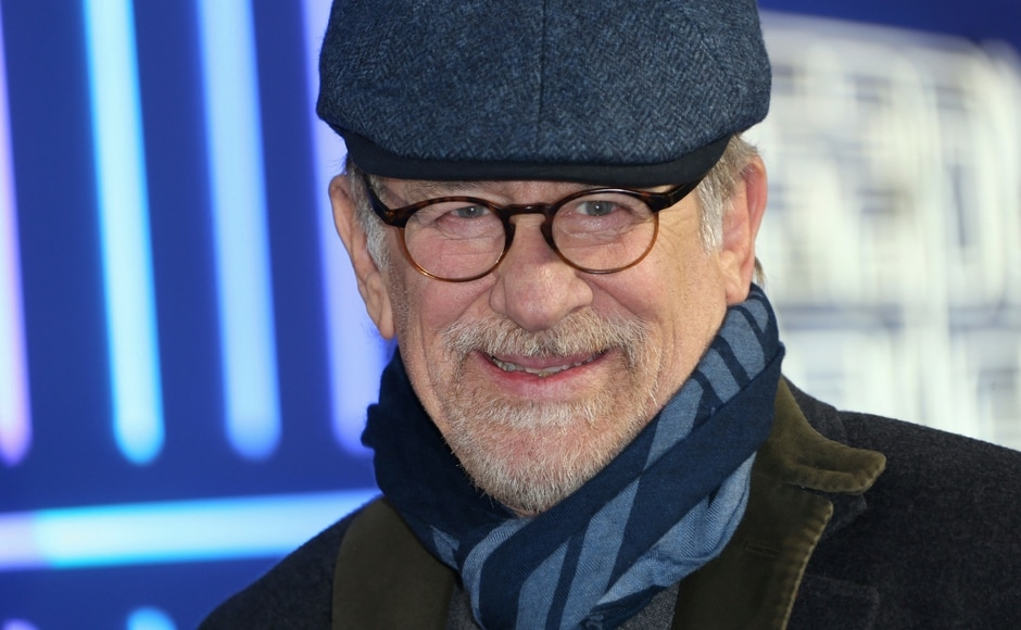 Steven Spielberg arrives at the premiere of Ready Player One/Photo by Joel C Ryan/Invision/AP.