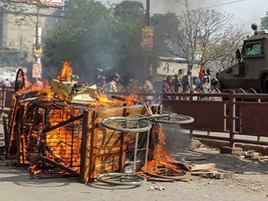 Violent clashes broke out between two groups during a Ramnavmi procession in Aurangabad on Monday. PTI