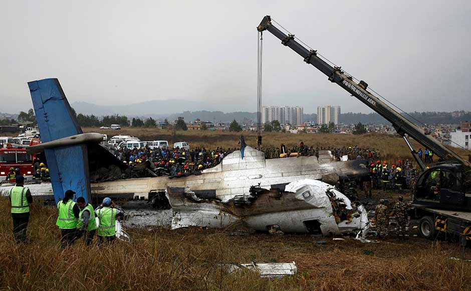 The plane was a Canadian-made Bombardier Dash 8 Q400 turboprop, Mahbubur Rahman of Bangladesh's civil aviation ministry told AFP. Other sources said the aircraft was 17 years old.