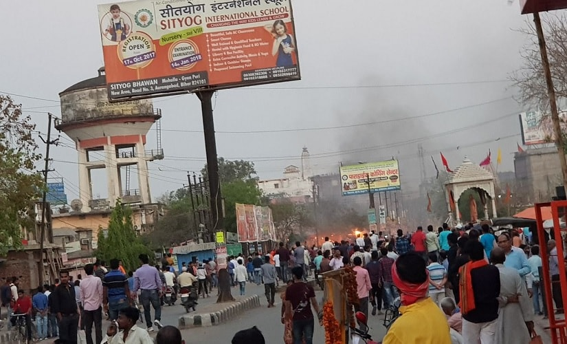 More than 40 shops were set ablaze, ransacked and looted by the mob during the Aurangabad violence. Image courtesy Ganesh Prasad