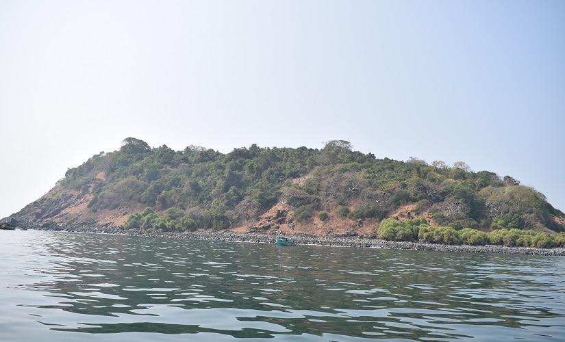 Netrani Island, which is located about 12.5 nautical miles off Bhatkal coastline. Image courtesy M Raghuram