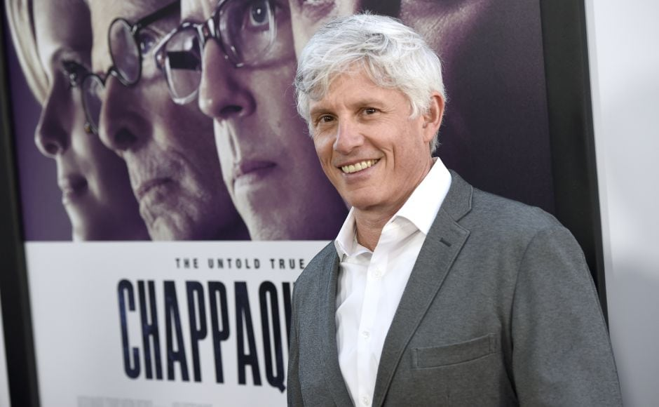 Director John Curran arrives at the premiere of Chappaquiddick at the Samuel Goldwyn Theater. (Photo by Chris Pizzello/Invision/AP)