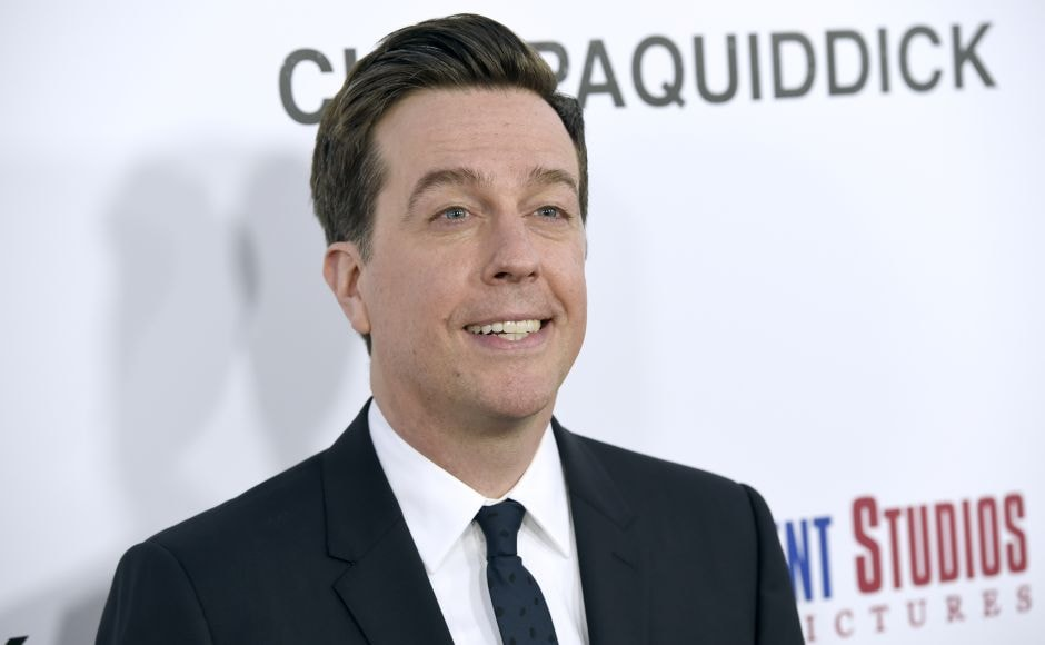 Ed Helms arrives at the premiere of Chappaquiddick at the Samuel Goldwyn Theater. (Photo by Chris Pizzello/Invision/AP)