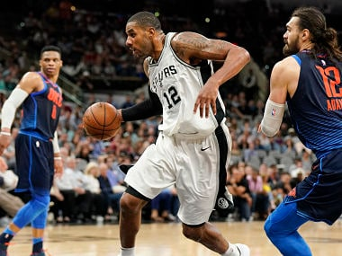 NBA: LaMarcus Aldridge propels Spurs to fourth place; Kevin Durant ejected in comeback game against Bucks