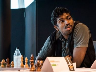 Adibhan was rated 400 points above his opponent. Courtesy: Lennart Ootes