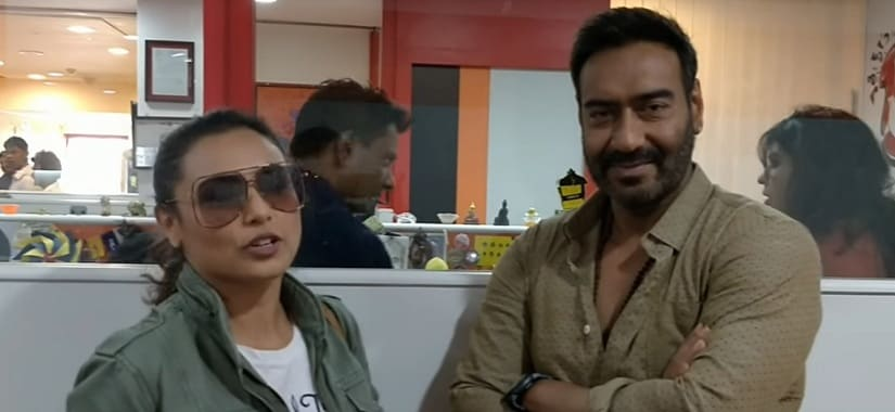 Rani Mukerji along with Ajay Devgn. YouTube screengrab