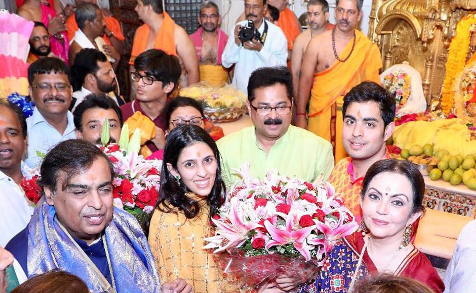 Akash Ambani, fiance Shloka Mehta visit Mumbai's Siddhivinayak Temple after engagement