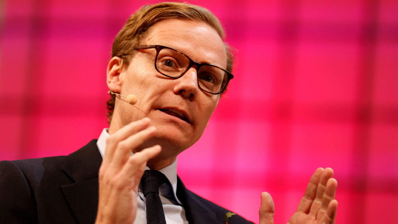 CEO of Cambridge Analytica, Alexander Nix, speaks during the Web Summit, Europe's biggest tech conference, in Lisbon, Portugal, November 9, 2017. REUTERS/Pedro Nunes - RC1CF2B72D80
