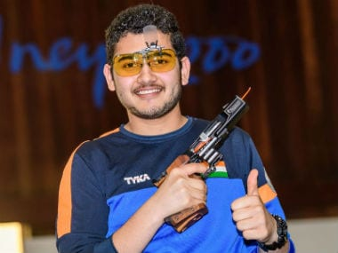 Anish Bhanwala claims India's third individual gold in Sydney. Twitter @ISSF_Shooting