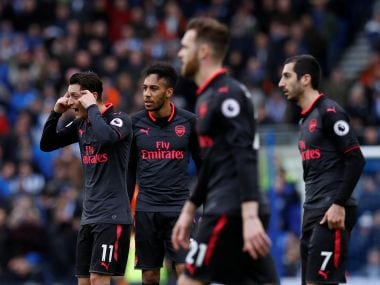 Arsenal suffered a third defeat in a row as they went down to Brighton and Hove Albion in the Premier League. Reuters