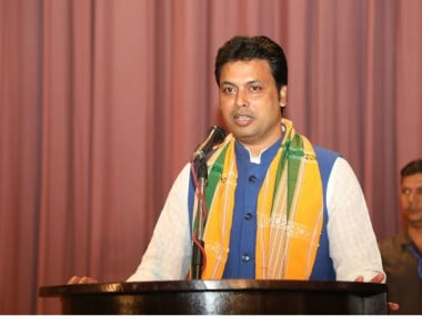 File photo of Biplab Deb. Twitter@BjpBiplab