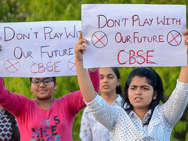 Image result for CBSE paper leak: Board struggles to contain fallout as anxious students, parents fret over uncertain future