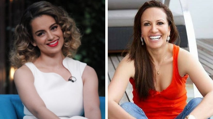 Kangana Ranaut (left); Ayesha Shroff (right). Facebook