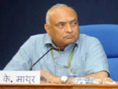 File image of Chief Information Commissioner RK Mathur. PIB