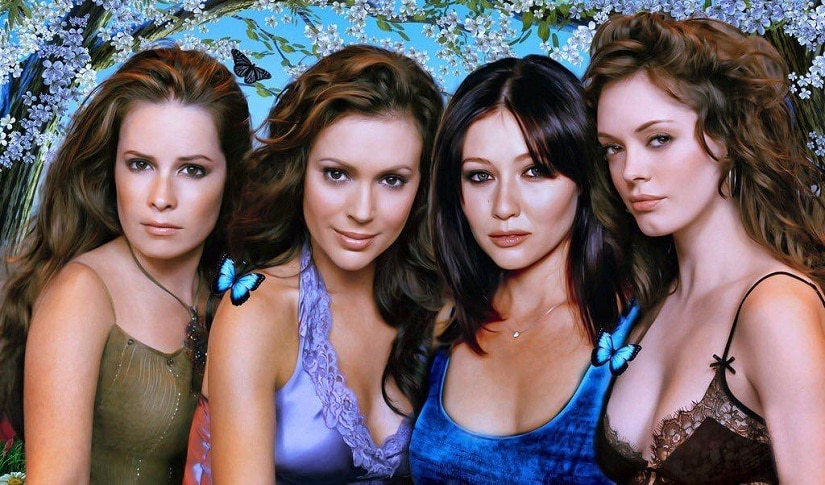 Charmed original cast (from left): Holly Mari Combs, Alyssa Milano, Shannen Doherty and Rose McGowan