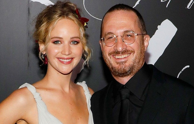 Jennifer Lawrence and Darren Aronofsky. Image from Twitter/@pamelamontes55