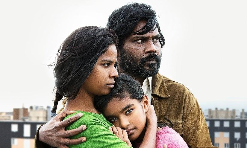 Antonythasan Jesuthasan, Kalieaswari Srinivasan and Claudine Vinasithamby in Dheepan