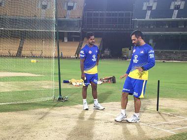 IPL 2018: MS Dhoni, N Srinivasan reunite during Chennai Super Kings' training session at Chepauk