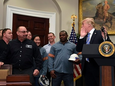Donald Trump slaps tariff warning, taking forward his campaign promise ahead of the 2018 midterms / AP
