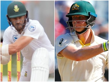 Faf du Plessis and Steve Smith, captain of South Africa and Australia respectively. Reuters