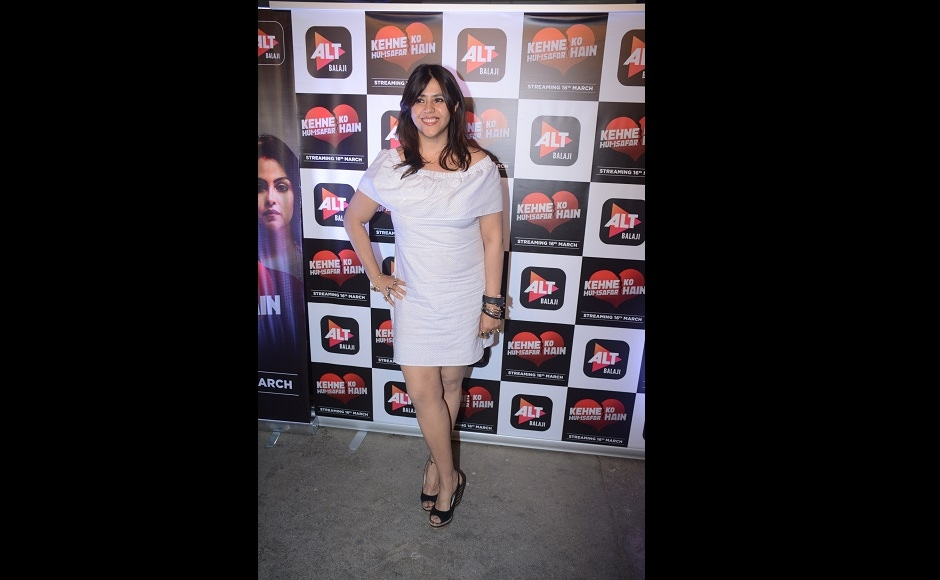 The special screening for Kehne Ko Humsafar Hain was hosted by Ekta Kapoor.