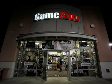 A GameStop store is pictured in Pasadena.
