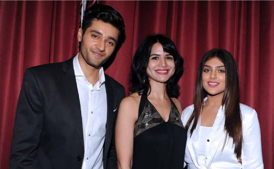 Newcomers Utkarsh Sharma and Ishita were introduced at the wrap-party. Image from AFP.