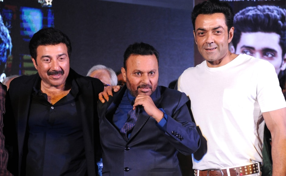 Brothers Sunny Deol and Bobby Deol were the chief guests for the evening. Image from AFP.