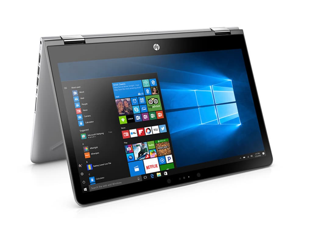 The x360 from HP is a convertible device and comes with a 360-degree hinge