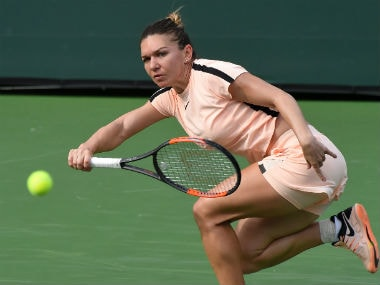Top seed Simona Halep in action at the Indian Wells Masters. Reuters