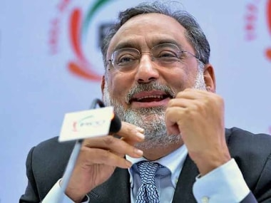 File image of former Jammu and Kashmir finance minister Haseeb Drabu. PTI