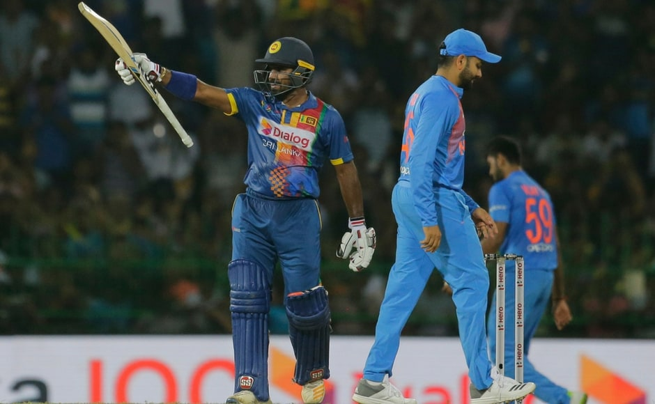 Though India found a breakthrough in the 2nd over of the innings, Kusal Perera's onslaught left the Indian bowlers clueless as he plundered his way to 66 off just 37 deliveries. AP