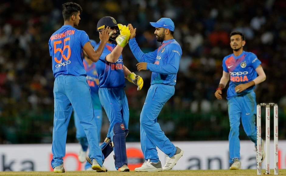 Washington Sundar was the pick of the Indian bowlers returning respectable figures of 4-0-28-2 in a day that saw the pacers taken to the cleaners by the Lankan batsmen. AP