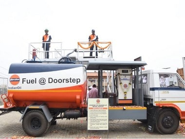 Indian Oil Corp starts doorstep delivery of diesel on a pilot basis in Pune. Image courtesy - IOC Twitter.