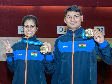 Manu Bhaker and Om